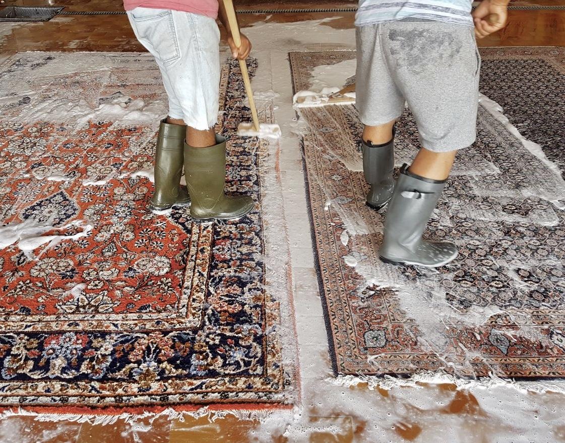 Traditionelle Teppichreinigung